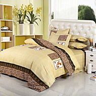 Floral Polyester / Poly/Cotton 4 Piece Duvet Cover Sets