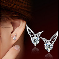 S925 Fine Silver Angel Stud Earrings