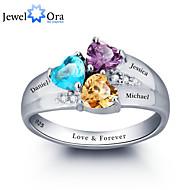 指輪 女性用 / カップル用 / 男女兼用 キュービックジルコニア 純銀 純銀 6 / 7 / 8 銀 装飾物のカラーは画像をご参照ください.