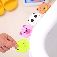 Cartoon Toilet Cover Lifting Device Bathroom Toilet Lid Portable Bathroom Toilet Seat Clamshell Holder(Ramdon Color)