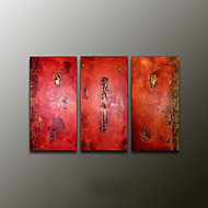 Hand-Painted AbstractModern Three Panels Canvas Oil Painting For Home Decoration