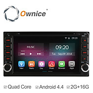"6.95"" 2 Din In-Dash Car DVD Player For Toyota Universal with Quad Core Pure Android 4.4.2 GPS Radio 2G Ram+16GB Flash"