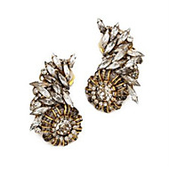 Women's The New Fashion Fine Crystal Gem Exaggerated Earrings With Packaging Box