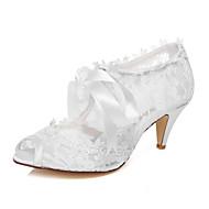 סנדלים - נשים - נעלי חתונה - נעלים עם פתח קדמי - חתונה / שמלה / מסיבה וערב - לבן