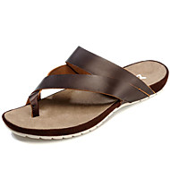 Men's Shoes Outdoor / Work & Duty / Casual Nappa Leather Slippers Brown