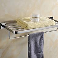 Prateleira de Banheiro Espelhado De Parede 60*21.5*11.5cm(23.6*8.5*4.5inch) Aço Inoxidável Contemporâneo
