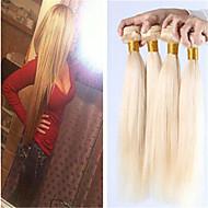 fullt huvud 3st lot brasilianska blont rakt hår 613 platina blont jungfru hår 8a ryska blonda hår buntar