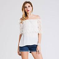 Boothals - Polyester - Uitgesneden / Geborduurd - Vrouwen - T-shirt - Korte mouw