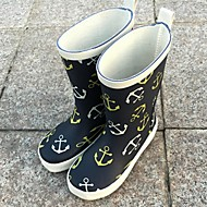Girl's Spring / Fall / Winter Round Toe / Fashion Boots Rubber Outdoor Flat Heel Blue / Yellow / Red