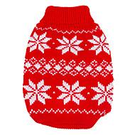 honden Truien Rood Hondenkleding Winter / Lente/Herfst Sneeuwvlok  Houd Warm / Kerstmis / Nieuwjaar