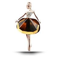 accessoires de mode de fille 2016 nouvelle Broche chaude belle princesse ballerine / exquise Broche bling bijou Broche / ballet