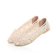 Women's Shoes  / Leatherette Flat Heel Comfort Flats Outdoor / Dress / Casual Black / Brown / Beige