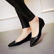 נעלי נשים - שטוחות - דמוי עור - שפיץ - שחור / ירוק / ורוד / לבן - שטח / משרד ועבודה / קז'ואל - עקב נמוך
