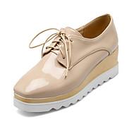 נעלי נשים - בלרינה\עקבים - דמוי עור - פלטפורמות - שחור / לבן / Almond - קז'ואל - עקב וודג'