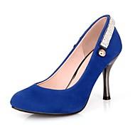 Women's Shoes Leatherette Stiletto Heel Heels / Pointed Toe Heels Casual Black / Blue / Green / Red / Almond