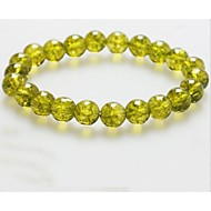 Genuine olive crystal agate beaded jewelry popcorn 8mm