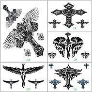 1ks vodotěsný rameno zadní křídlo kříž krásné body art dočasné tetování nálepka 5 provedení výběru