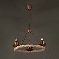 40W Vintage / Country LED Painting Metal Pendant Lights Dining Room / Study Room/Office / Game Room / Hallway / Garage