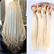3pcs / lot peruanska rakt jungfru hår blont billig rakt människohår buntar 613 blont jungfru hår människohår väva