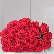 Poliéster Rosas Flores artificiais