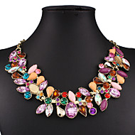 Missing U Vintage / Party Gold Plated / Alloy / Gemstone & Crystal / Cubic Zirconia Statement Necklace