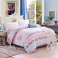 Elegant Woman, Full Cotton Reactive Printing Elegant Flowers Bedding Set 4PC, Queen King Size