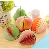 Cute Sticky Notes Post It Creative DIY Fruit Memo Pads Kawaii Stickers Paper Korean Stationery (Random Color)