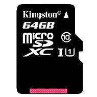 Kingston 64Go Classe 10 MicroSD/MicroSDHC/MicroSDXC/TFMax Read Speed10 (MB/S)Max Write Speed10 (MB/S)