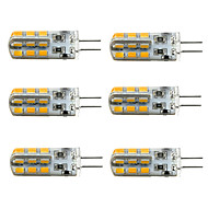3W G4 LED corn žárovky T 24 SMD 2835 160-190 lm Teplá bílá / Chladná bílá Stmívací DC 12 V 6 ks