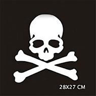 28x27cm αστείο κρανία Ghost Rider decal παράθυρο αυτοκόλλητο Αυτοκίνητο τοίχο στυλ του αυτοκινήτου (1pcs)