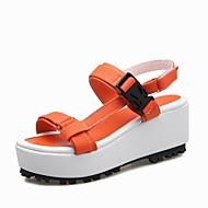 Women's Shoes Fabric Platform Platform / Slingback / T-Strap / Creepers Sandals Outdoor / Dress Yellow / Pink / Orange