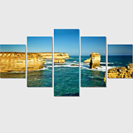 Unframed 5 Panel Seascape Large HD Picture Decorative Art Print Painting On Canvas For Living Room Wedding Gift
