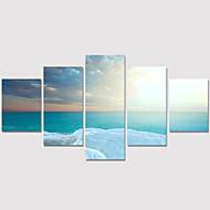 Paesaggio / Moderno / Romantico Print Canvas Cinque Pannelli Pronto da appendere , Orizzontale