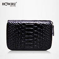 HOWRU ® Women 's PU  Key case/Wallet/Card/Clutch bag-Red/Watermelon/Purple/Black/Green/Light Blue/Fuchsia/Blue