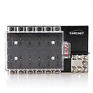 carchet Fahrzeugsicherungskasten Sicherungshalter Sicherungsblock 12x