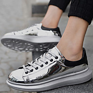 Men's Shoes Office & Career / Athletic / Casual Patent Leather Fashion Sneakers Black / Silver / Gold
