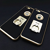 Para Capinha iPhone 6 / Capinha iPhone 6 Plus Suporte para Alianças Capinha Capa Traseira Capinha Cor Única Rígida MetaliPhone 6s Plus/6