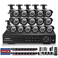 Annke® 16CH 1080P HD Indoor Outdoor IR Home CCTV Security Camera System DVR HDMI