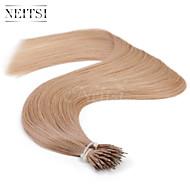 "Neitsi® 20"" 1g/s Nano Ring Loop Straight Hair 100% Human Hair Extensions 18# Include Hair Tools"