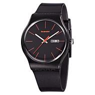 Men's Women's Unisex Sport Watch Fashion Watch Wrist watch Quartz Calendar Water Resistant/Water Proof Silicone Band Casual Black Rose