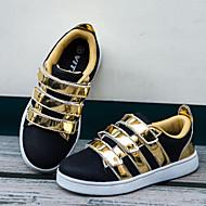 לבנים לבנות-נעלי ספורט-דמוי עור טול-נוחות רצועת קרסול-ורוד כסוף זהב-שטח יומיומי ספורט-עקב שטוח