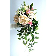 Wedding Flowers Cascade Roses / Lilies / Peonies Bouquets