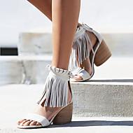 Women's Shoes Heel Heels / Peep Toe Sandals / Heels Outdoor / Dress / Casual Black / Brown / Almond / Beige