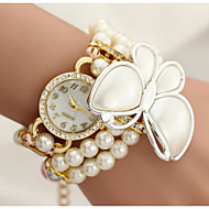 The butterfly wrapped Diamond Pearl Flower Bracelet Watch