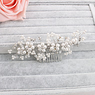 Women's Pearl Headpiece-Wedding / Special Occasion / Casual / Office & Career / Outdoor Hair Combs 1 Piece Clear Round