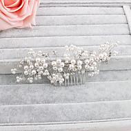 Mulheres Pérola Capacete-Casamento / Ocasião Especial / Casual / Escritório e Carreira / Ao ar Livre Pentes de Cabelo 1 Peça Claro Redonde