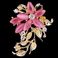 Women's Crystal Opal Flower Brooch for Wedding Party Decoration Scarf ,Fine Jewelry