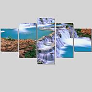 Landschaft / Modern Leinwand drucken Fünf Panele Fertig zum Aufhängen , Horizontal