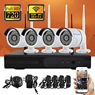 yanse® plug and play NVR sans fil kit p2p 720p hd système wifi cctv extérieur / intérieur ir nuit de sécurité de vision de la caméra IP