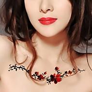 švestka květ vinné révy vodotěsný květ rameno dočasná tetování samolepky netoxický třpytky